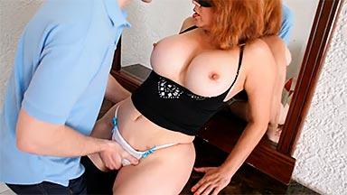 Latina tetona en casting porno español