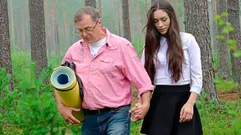 Profesor se folla a su alumna en el bosque